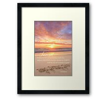The Sunset Framed Print