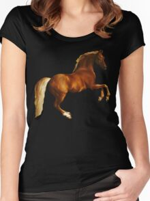 George Stubbs Whistlejacket - 1762 (for black background) Women's Fitted Scoop T-Shirt