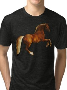 George Stubbs Whistlejacket - 1762 (for black background) Tri-blend T-Shirt