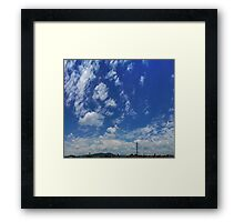 ©HCS Blue Day With Clouds I Framed Print