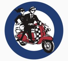Ska Scooter Couple Target by Scooterist