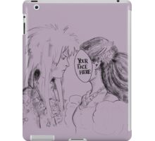Your Face Here, Bowie (no background) iPad Case/Skin