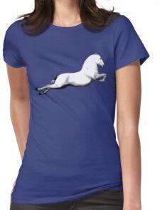 Big White Lipanzanna Stallion Womens Fitted T-Shirt