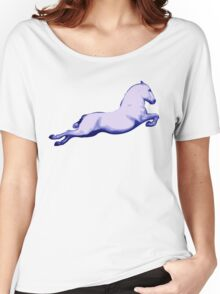 Lipanzanna Stallion in Capriole Blue Women's Relaxed Fit T-Shirt