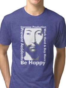 OMM 0000 THX -1138 Be Happy Tri-blend T-Shirt