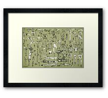 Weapons and Armor Framed Print