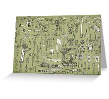 Weapons and Armor Greeting Card