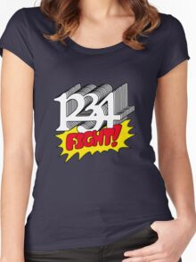 1 2 3 4 Fight! Women's Fitted Scoop T-Shirt