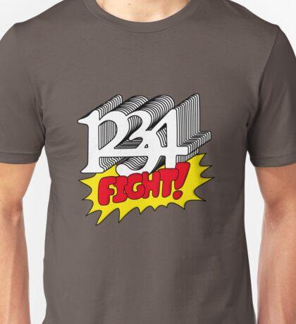 1 2 3 4 Fight! Unisex T-Shirt