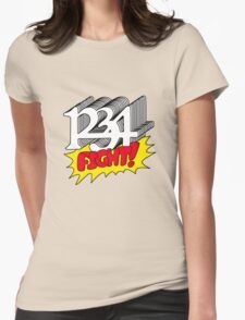 1 2 3 4 Fight! Womens Fitted T-Shirt