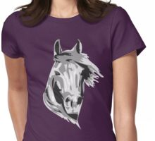 Stallion Face Womens Fitted T-Shirt