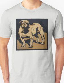 Bulldog Old Vintage Poster T-Shirt