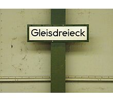 Gleisdreieck Photographic Print