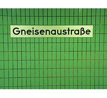 Gneisenaustraße Photographic Print