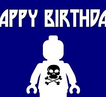 Happy Birthday Greeting Card with Skull Minifig by Chillee Wilson from Customize My Minifig by ChilleeW