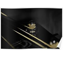 Gold String Guitar Poster