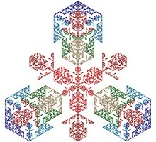 Cubic Snowflake by Ross Hilbert