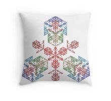 Cubic Snowflake Throw Pillow