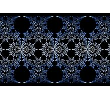 Blue Chromium Mural Photographic Print