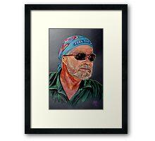 """Jimmy, Feel The Wind"" Framed Print"