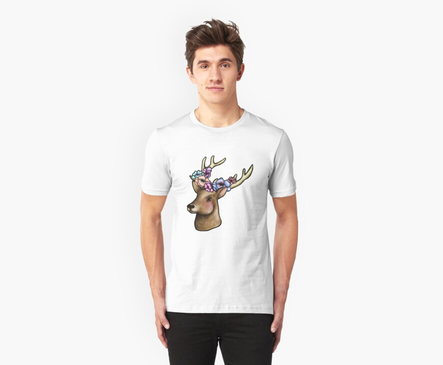 Floral Stag by HungryDesigns