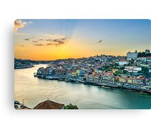 Sunset in Porto, Portugal Canvas Print