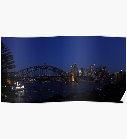 Colours of Sydney - Blue Poster