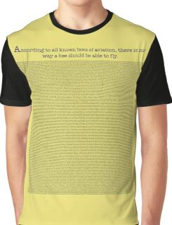 The Entire Bee Movie Script  Graphic T-Shirt