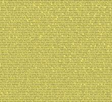 The Entire Bee Movie Script  Sticker