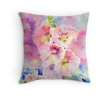 Cottage Garden Summer Throw Pillow