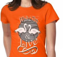 wake up and live Womens Fitted T-Shirt