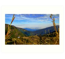 Valley High Up In The Andes Of Ecuador Art Print