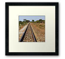 Between stations... Framed Print