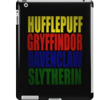 Hogwarts Houses Typography iPad Case/Skin