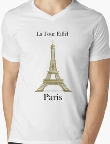 The Eiffel Tower Mens V-Neck T-Shirt