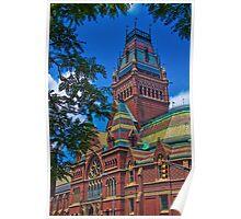USA. Massachusetts. Cambridge. Harvard University. Memorial Hall. Poster