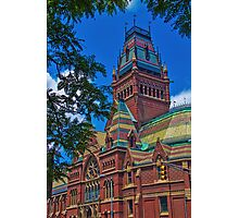USA. Massachusetts. Cambridge. Harvard University. Memorial Hall. Photographic Print