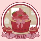 Sweet Strawberry Cupcake by Adamzworld