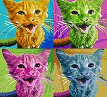 Kitten Pop Art by Corey Allen