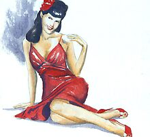 Lady In Red by Anthony Billings