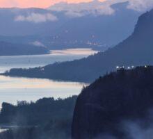 Columbia River Gorge Sunrise Sticker