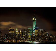 Downtown Manhattan At Night Photographic Print