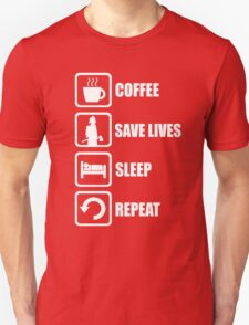Coffee Save Lives Sleep Repeat T-Shirt