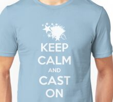 Keep Calm and Cast on (Mid Laner) Unisex T-Shirt
