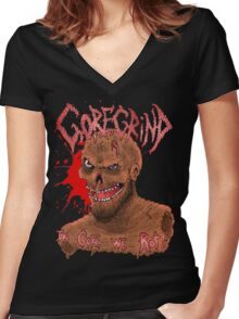 Goregrind - In Gore We Rot! Women's Fitted V-Neck T-Shirt