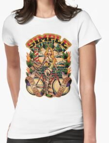 Simple Fixed Gear 01 Womens Fitted T-Shirt