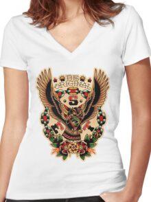 Santa Esperanza Tatuaria 03 Women's Fitted V-Neck T-Shirt