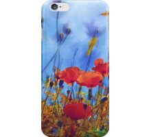 Summer Poppy Field iPhone Case/Skin