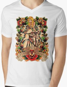 Simple Fixed Gear 02 Mens V-Neck T-Shirt