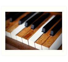 old piano Art Print